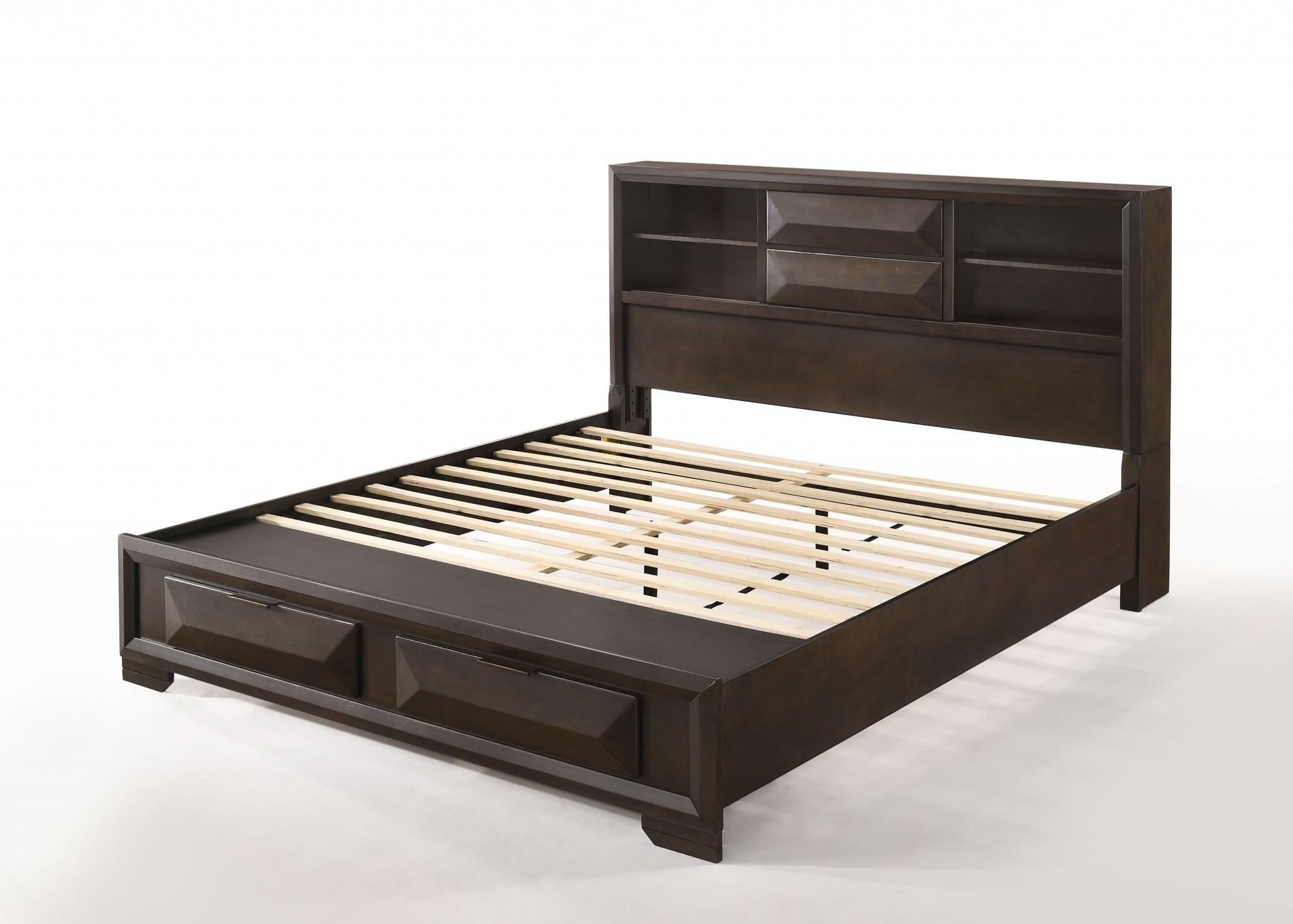 Eastern King Storage Bed In Espresso