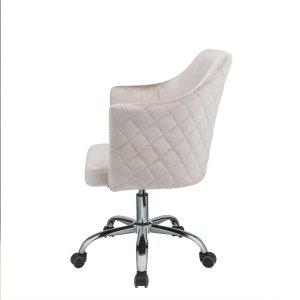 """25"""" X 23"""" X 37"""" Champagne Velvet Office Chair"""