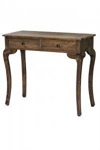 """37.8"""" X 18.25"""" X 15"""" Rustic Wood Wood Pine Console Table with Drawers"""