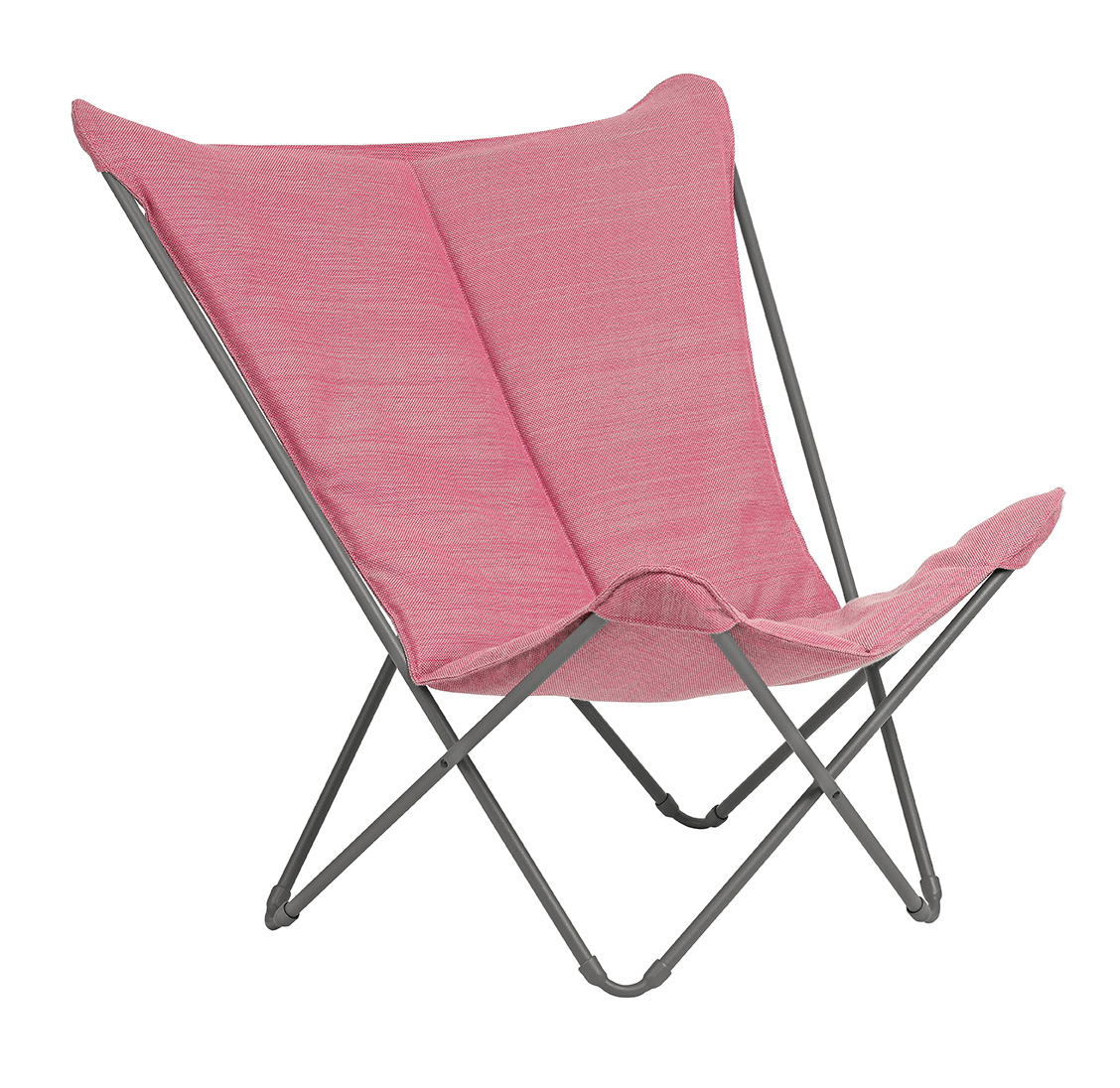 Lounge Chair - Titane Steel Frame - Orchid Hedona Fabric
