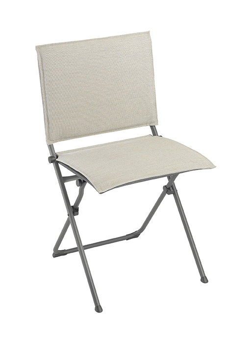 Folding Chair - Titane Steel Frame - Latte Hedona Fabric