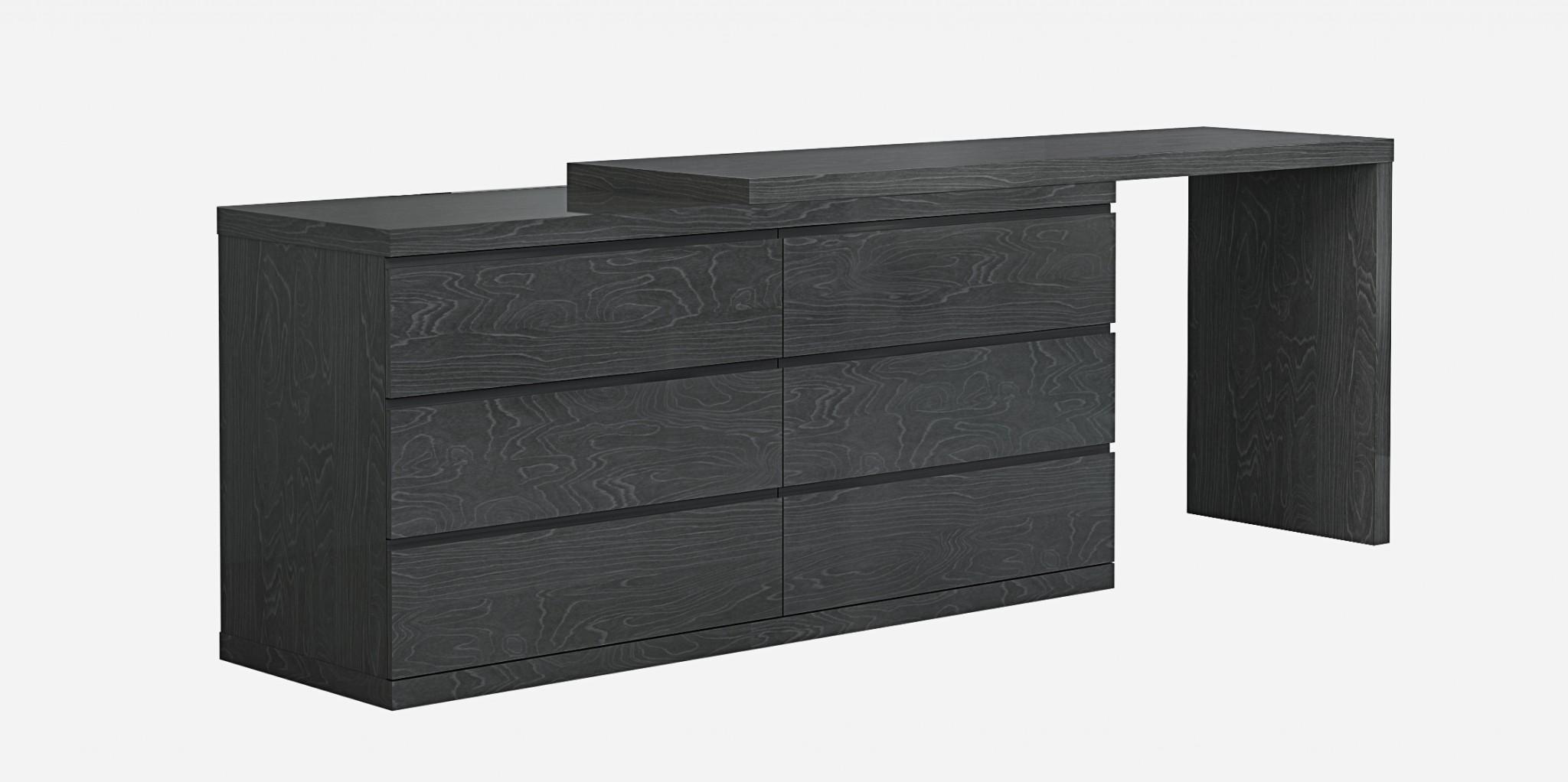 "63"" X 20"" X 30"" Grey Double Dresser Extension"