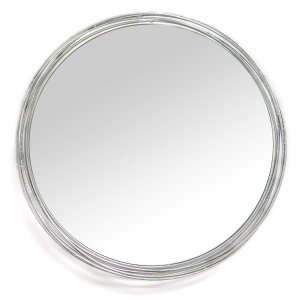Silver Statement Metal Framed Wall Mirror
