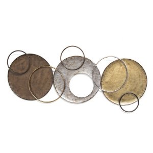 Charming Textured Metal Wall Decor