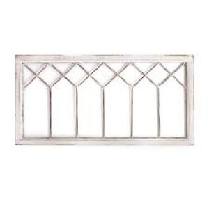 Distressed White Metal & Wood Framed Wall Art