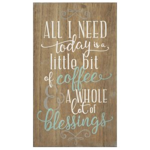 Brown Coffee And Blessings Wall Decor