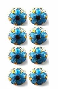 """1.5"""" x 1.5"""" x 1.5"""" Blue, Black And Yellow - Knobs 8-Pack"""