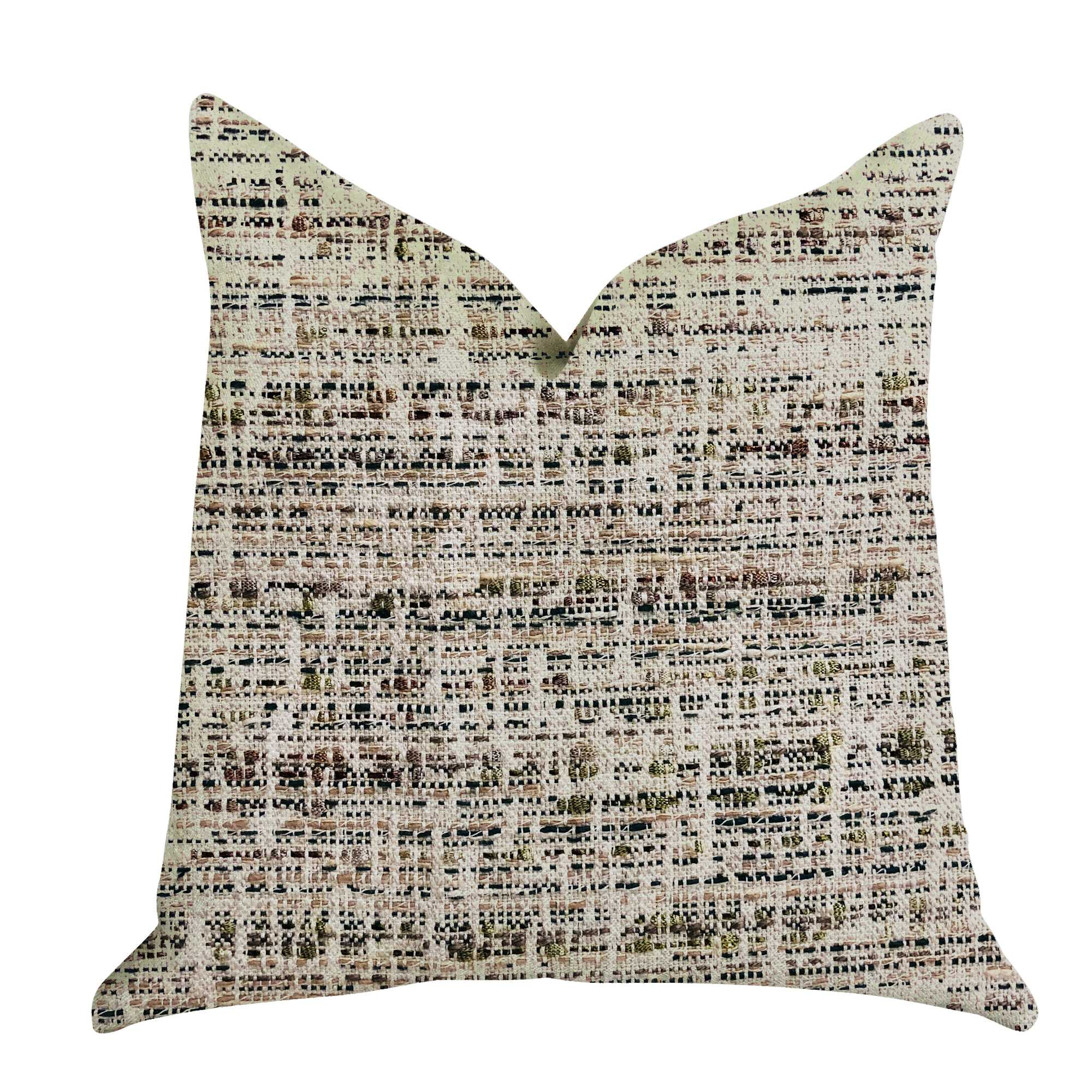 Multi Color Luxury Throw Pillow 22in x 22in