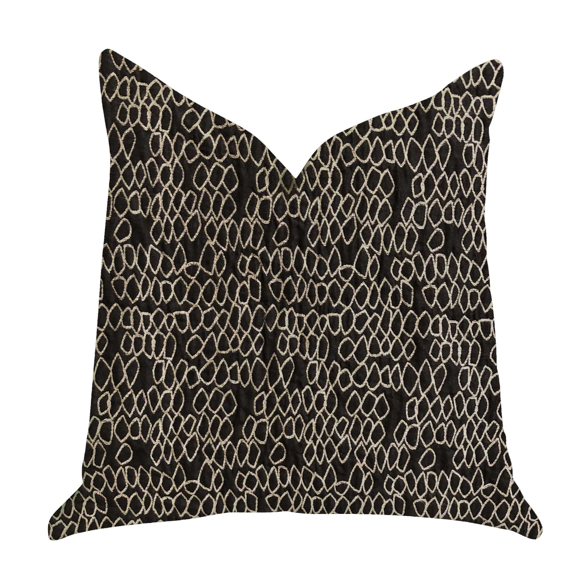 Luxury Throw Pillow in Black and White 12in x 25in