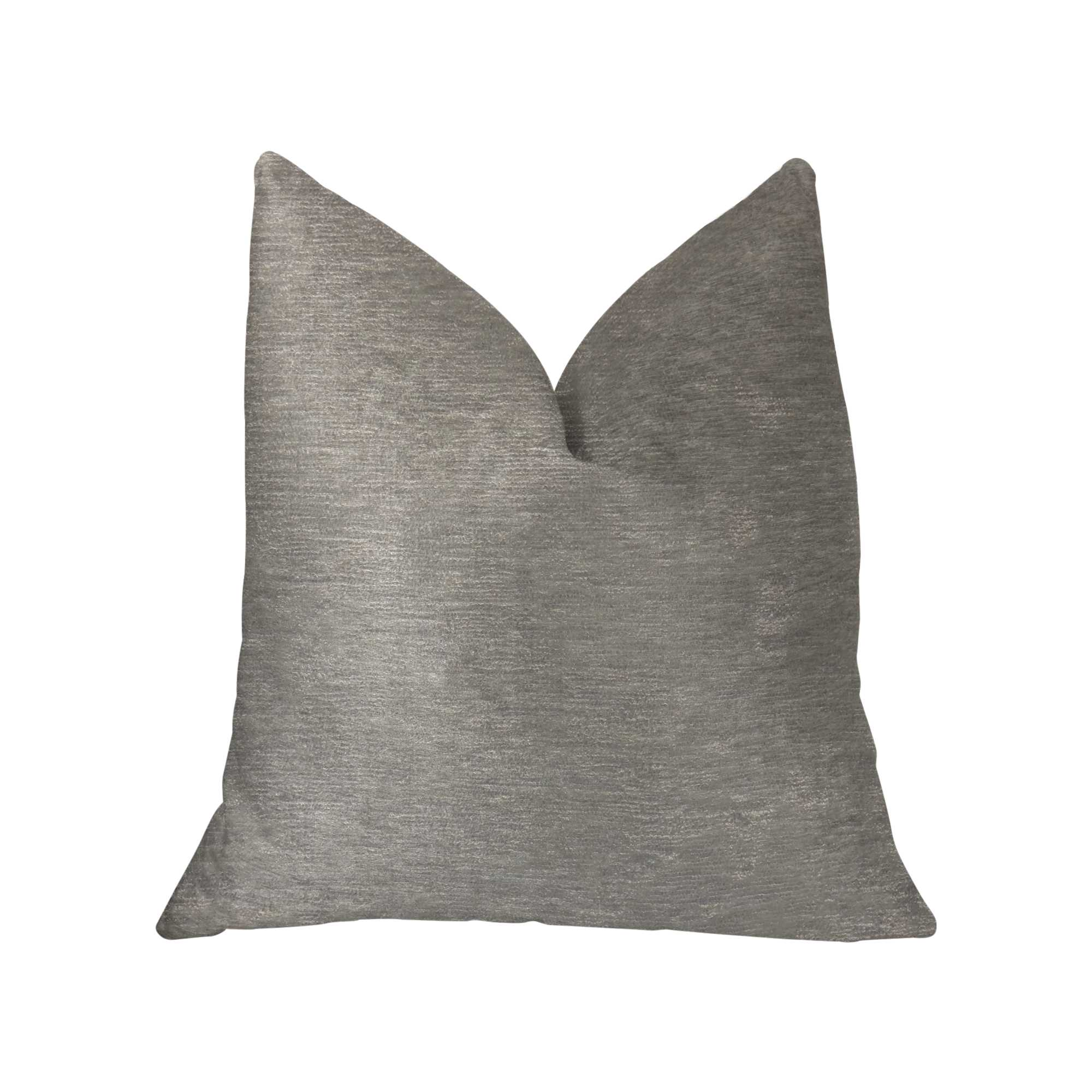 Velvet Cream and Ivory Luxury Throw Pillow 18in x 18in