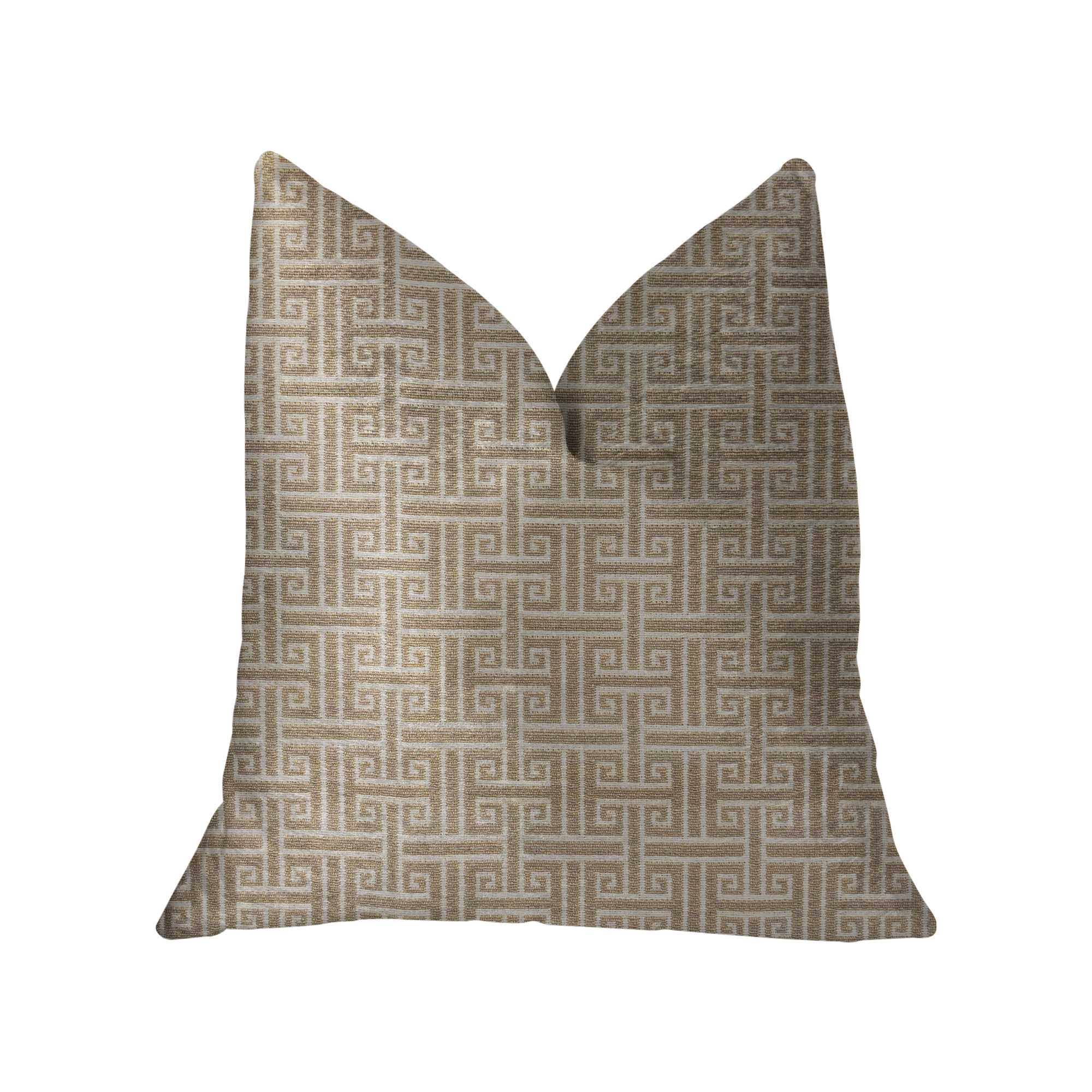 Gray and Beige Luxury Throw Pillow 20in x 30in