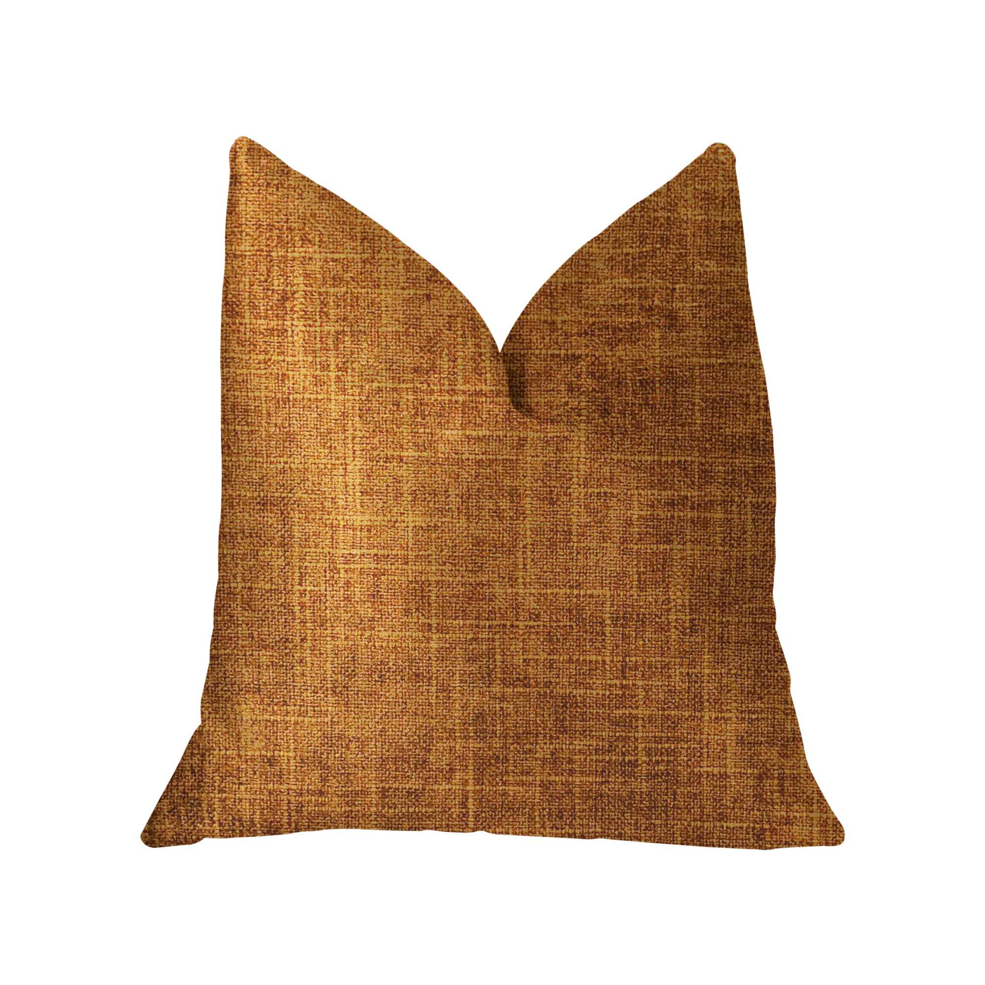 Brown and Gold Luxury Throw Pillow 22in x 22in