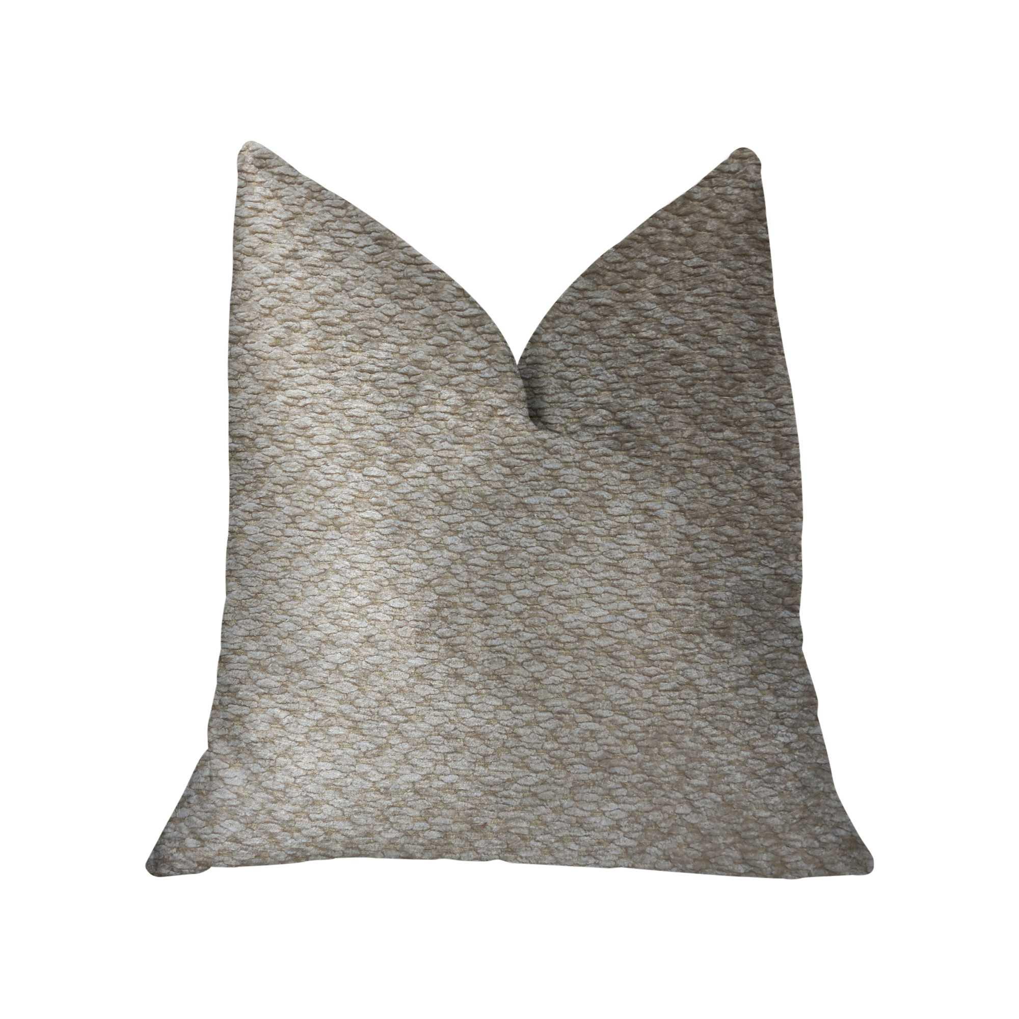 Beige Luxury Throw Pillow 12in x 20in