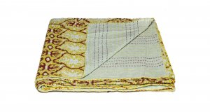 """50"""" x 70"""" Multicolored Charming Kantha - Throw"""