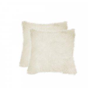 "18"" x 18"" Natural Sheepskin Fur Set of 2 Pillow"