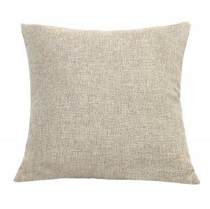 Beige Tweed Square Accent Pillow