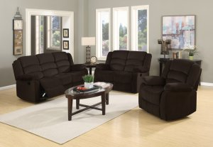 "120"" Contemporary Brown Fabric Sofa Set"
