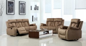 "120"" Modern Beige Fabric Sofa Set"