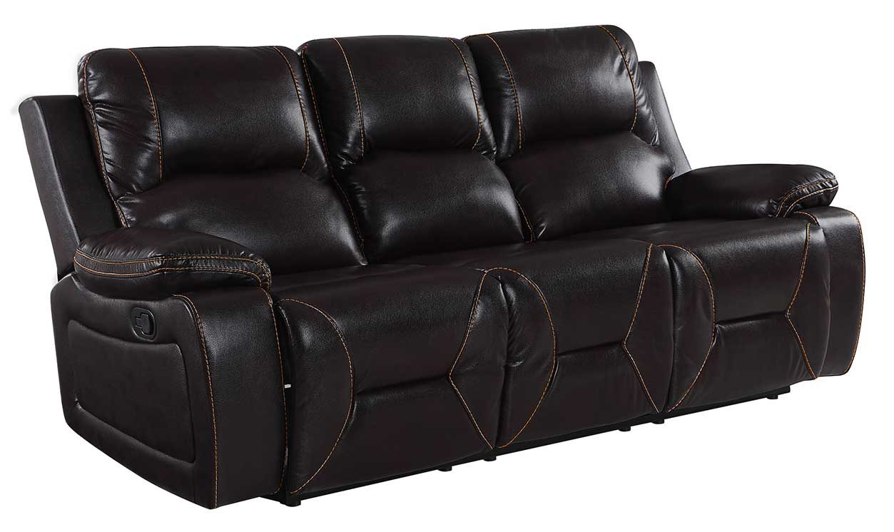 """40"""" Classy Brown Leather Sofa"""