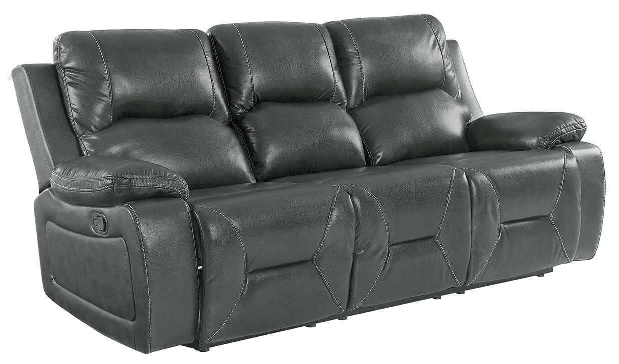 "40"" Classy Grey Leather Sofa"