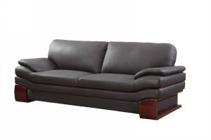 "34"" Dazzling Brown Leather Couch"