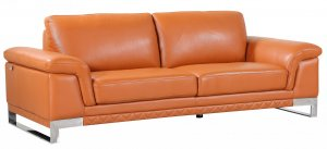 """32"""" Lovely Camel Leather Sofa"""