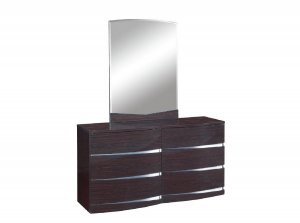 "32"" Exquisite Wenge High Gloss Dresser"