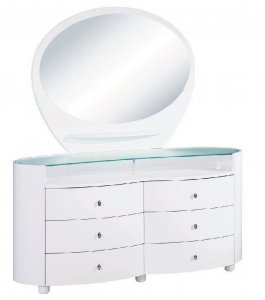 "31"" Sophisticated White High Gloss Dresser"