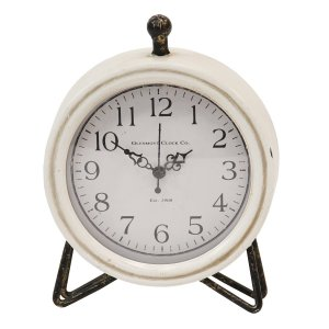 Rustic Black and White Table or Desk Clock