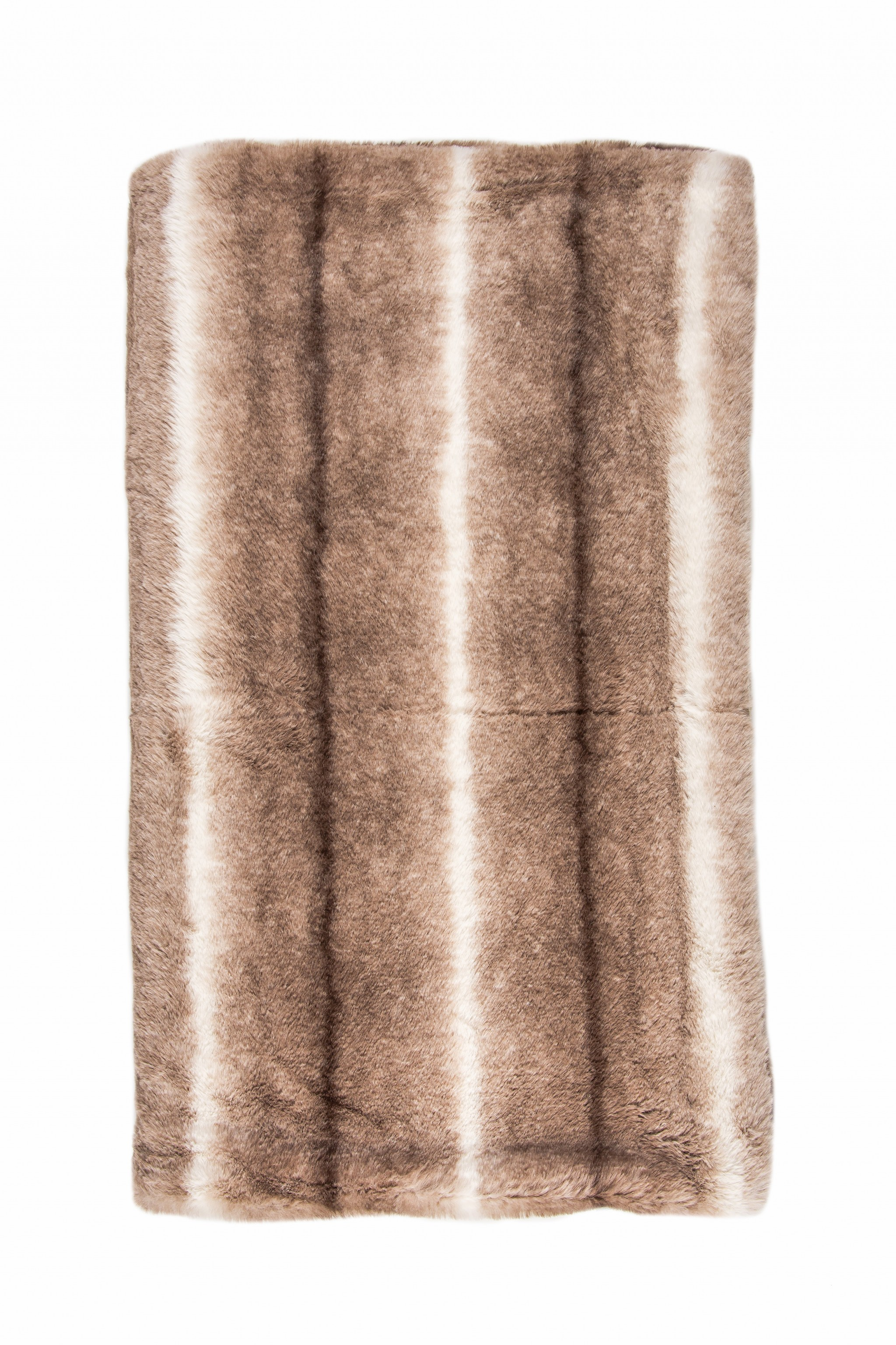 "50"" x 70"" x 2"" Taupe, Faux Fur - Throw"