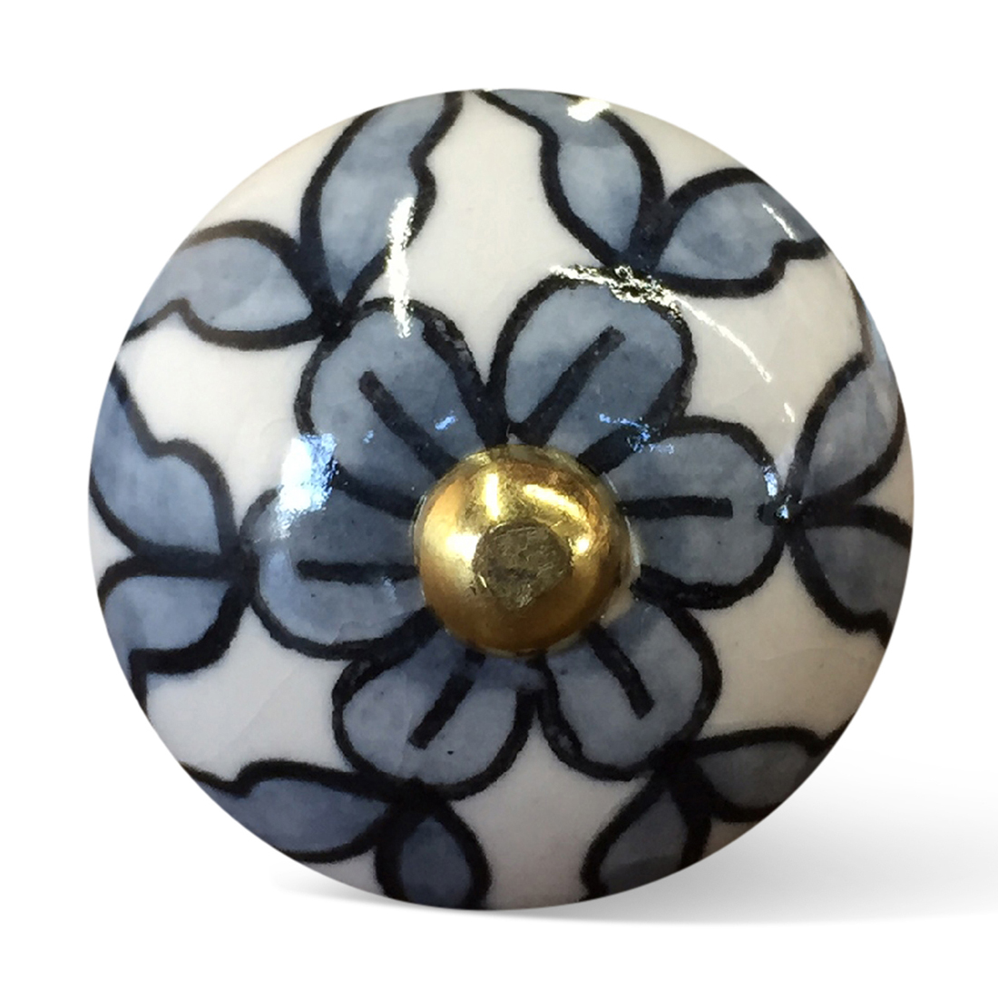 """1.5"""" x 1.5"""" x 1.5"""" White, Blue and Black - Knobs 12-Pack"""