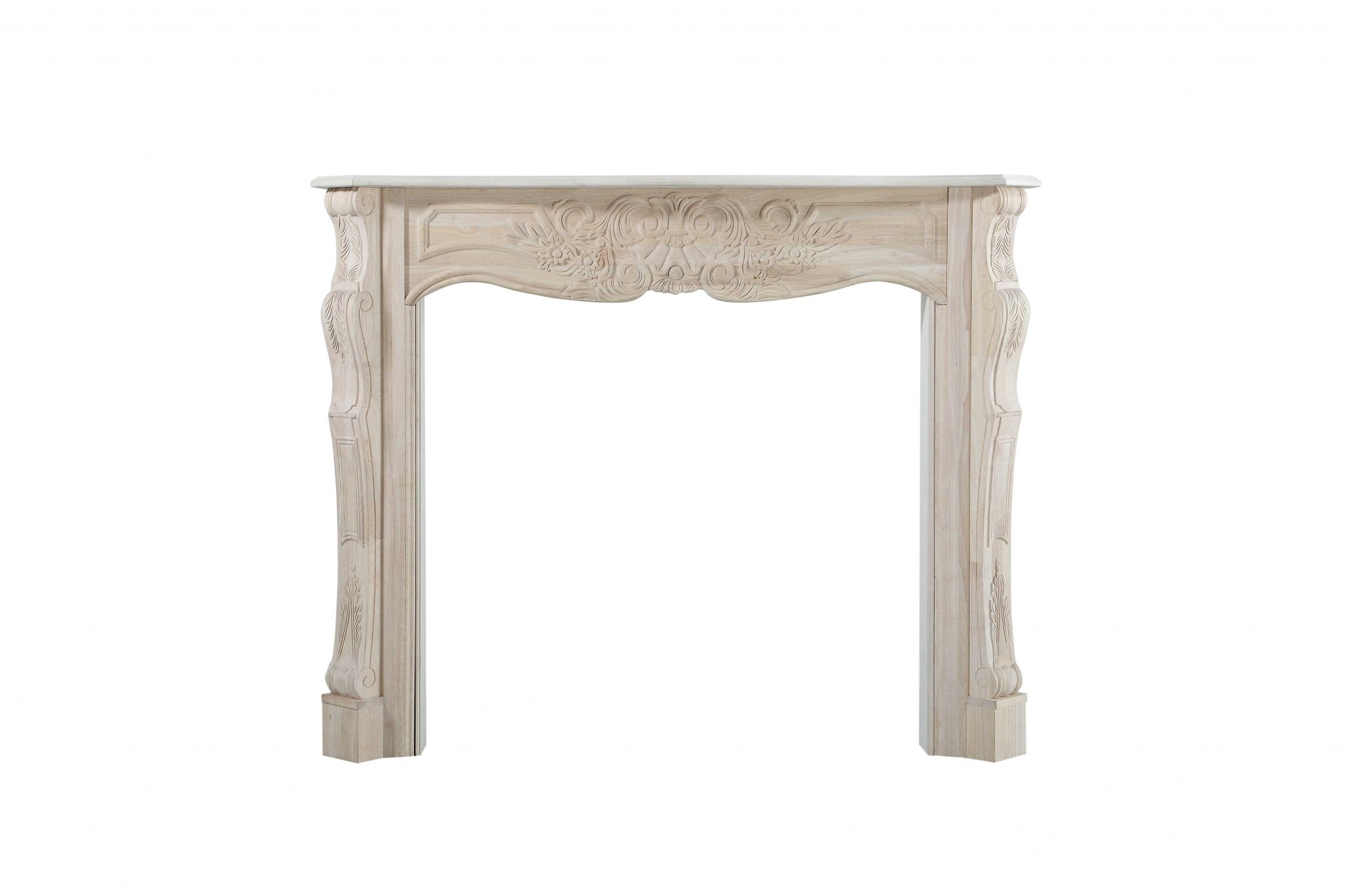 "77"" Contemporary Unfinished Wood Mantel Shelf"