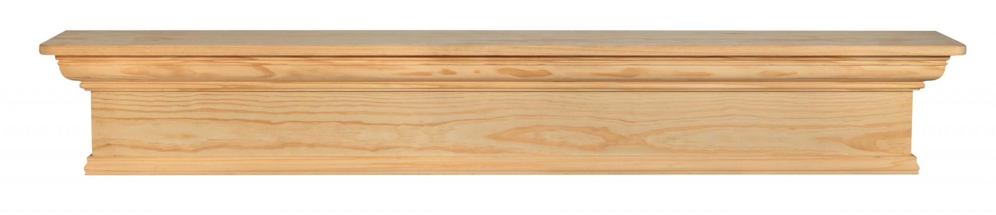 "48"" Sophisticated Unfinished Pine Wood Mantel Shelf"