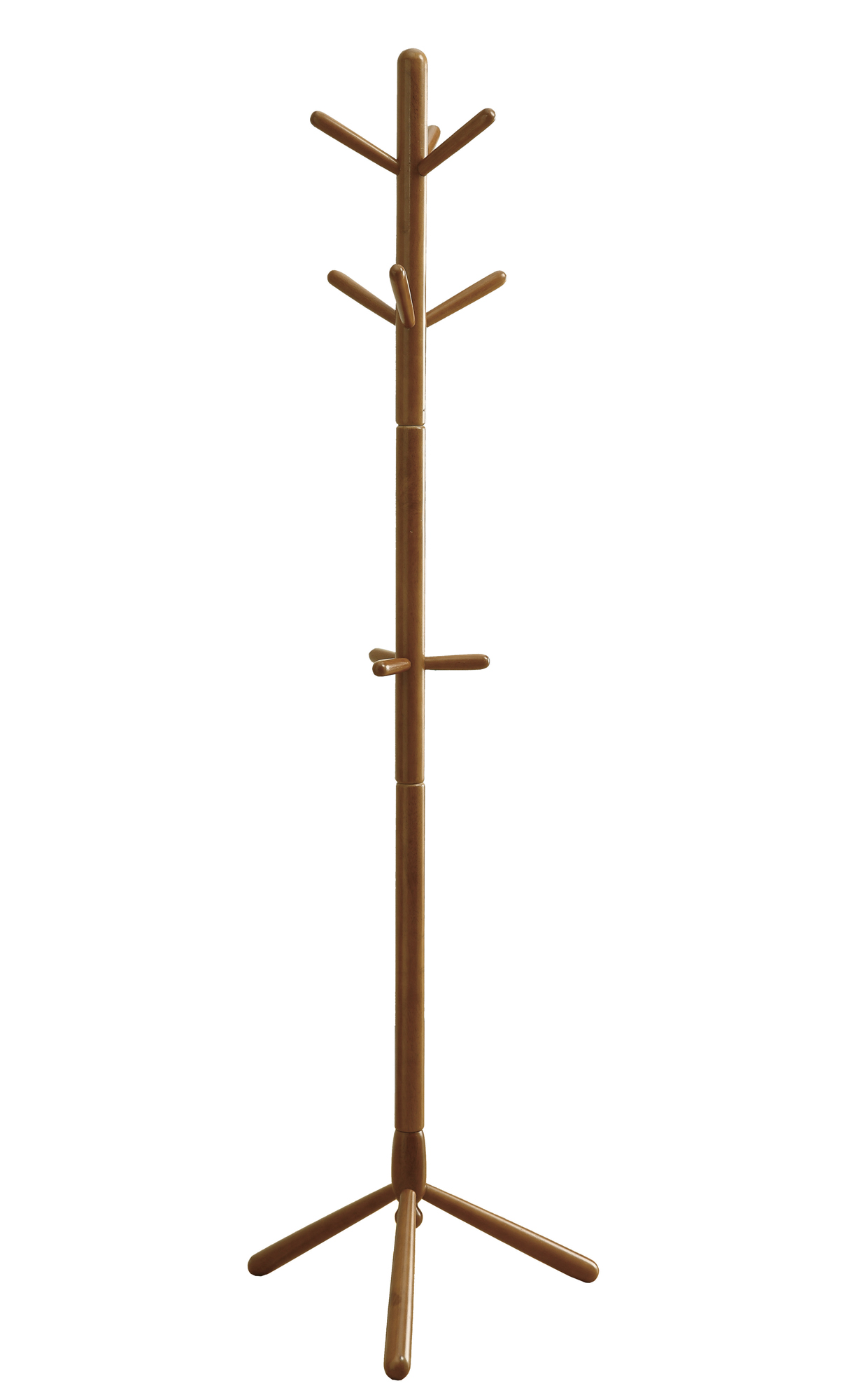 "16.25"" x 16.25"" x 69"" Oak, Solid Wood - Coat Rack"