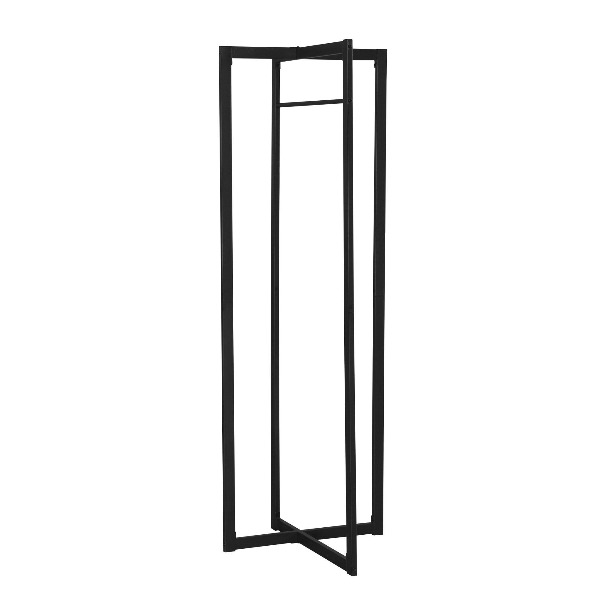 "25.5"" x 27.5"" x 72.25"" Black, Metal - Coat Rack"