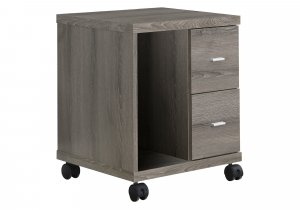 """17.75"""" x 17.75"""" x 23"""" Dark Taupe Particle Board Hollow Core 2 Drawers  Office Cabinet"""