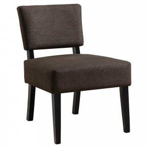 """27.5"""" x 22.75"""" x 31.5"""" Brown Foam Accent Chair with Solid Wood Frame"""