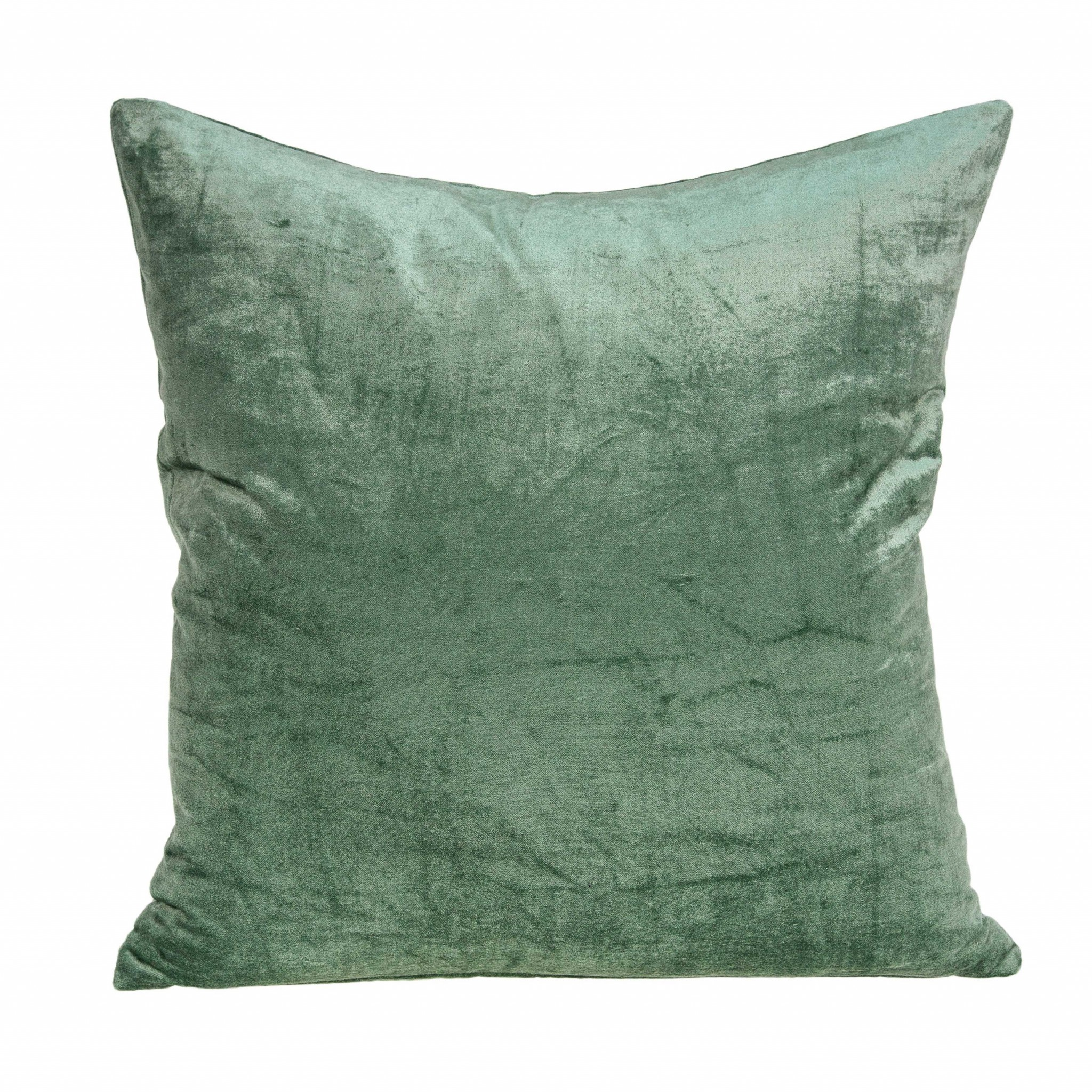"""18"""" X 0.5"""" X 18"""" Transitional Green Solid Pillow Cover"""