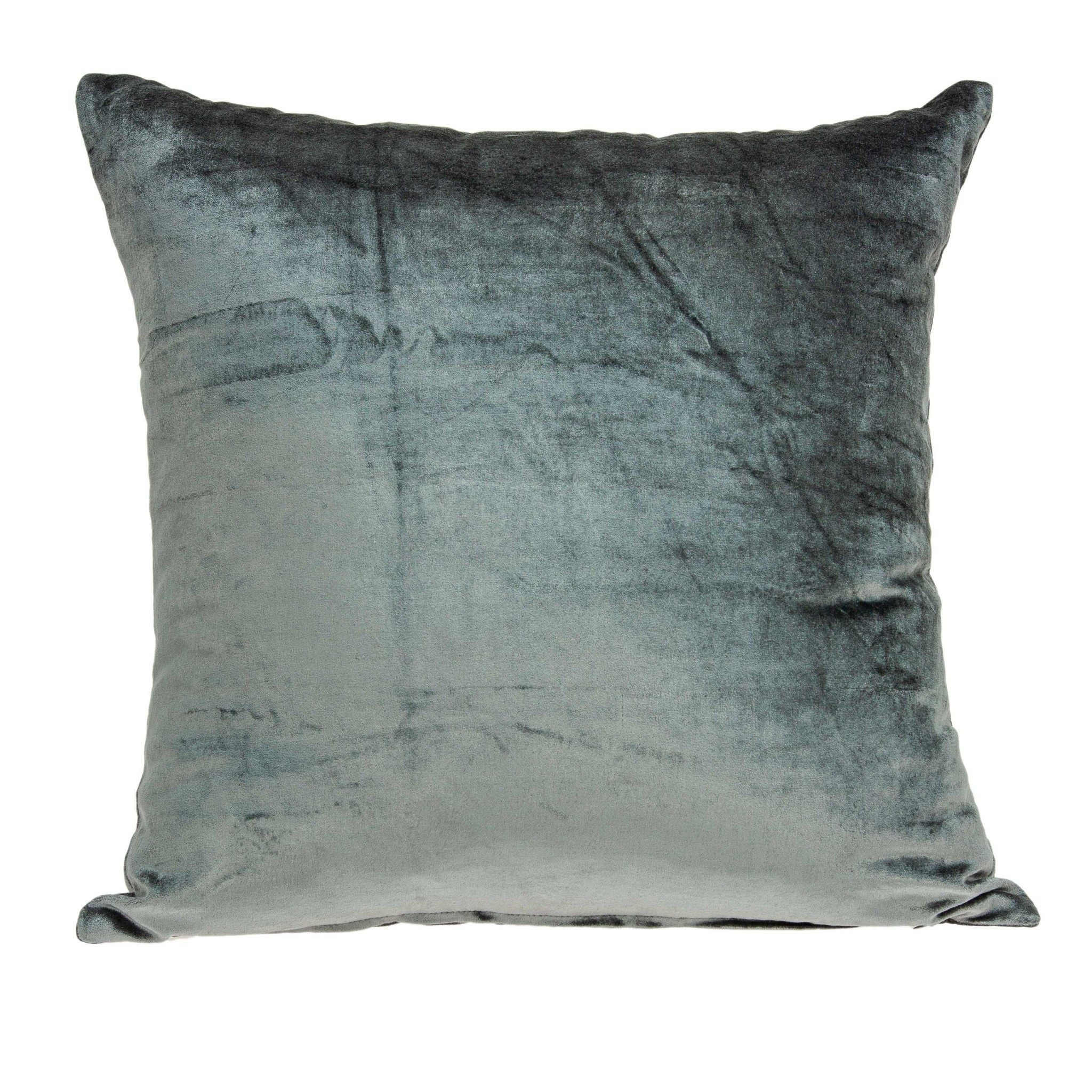 """18"""" X 0.5"""" X 18"""" Transitional Charcoal Solid Pillow Cover"""