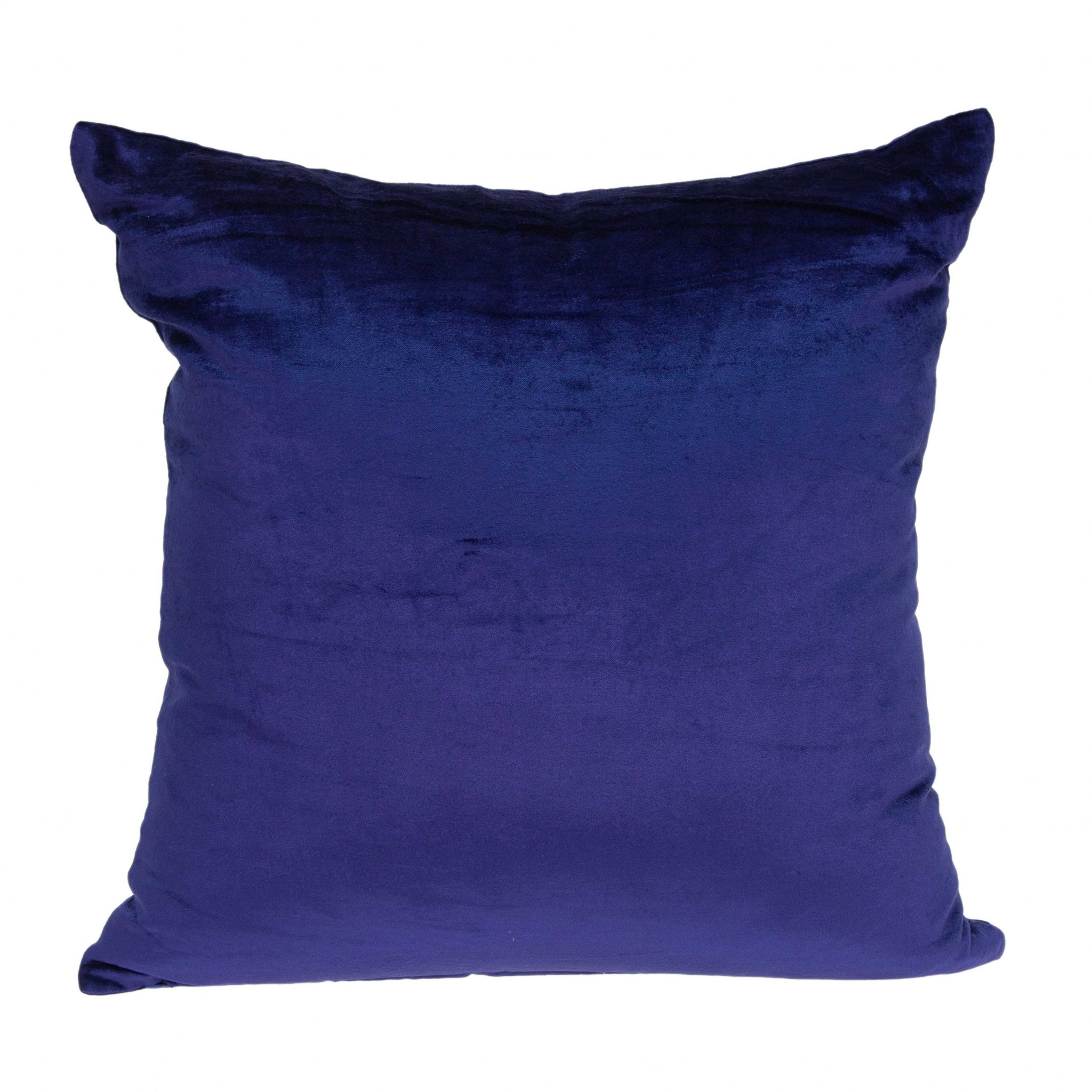 """18"""" X 0.5"""" X 18"""" Transitional Royal Blue Solid Pillow Cover"""