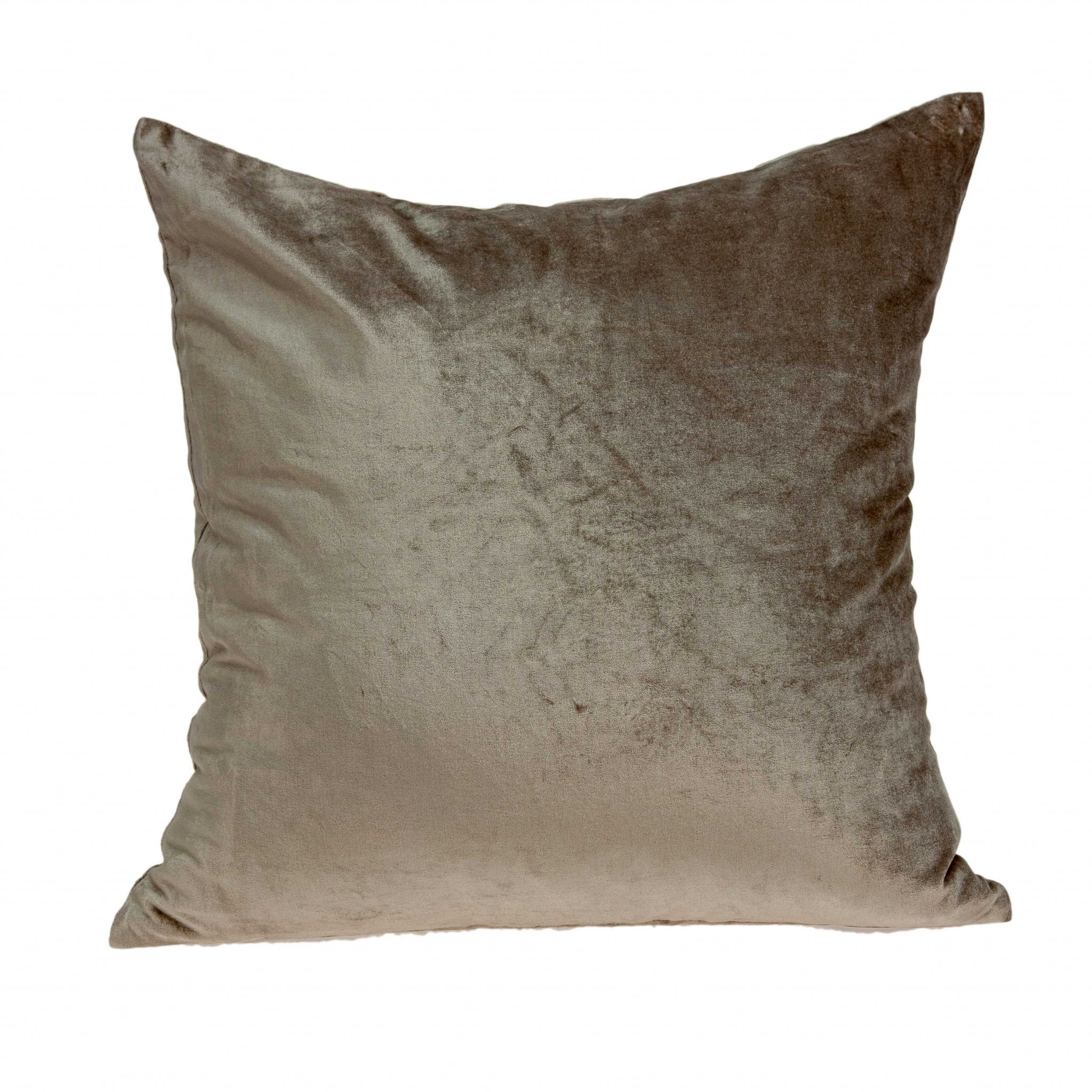 """18"""" X 0.5"""" X 18"""" Transitional Taupe Solid Pillow Cover"""