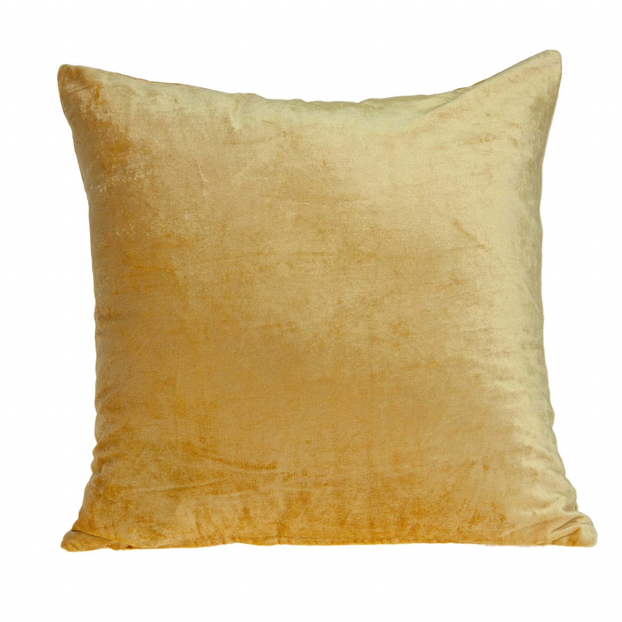 """18"""" X 0.5"""" X 18"""" Transitional Yellow Solid Pillow Cover"""