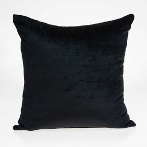 Shimmy Black Rayon Solid Color Pillow Cover