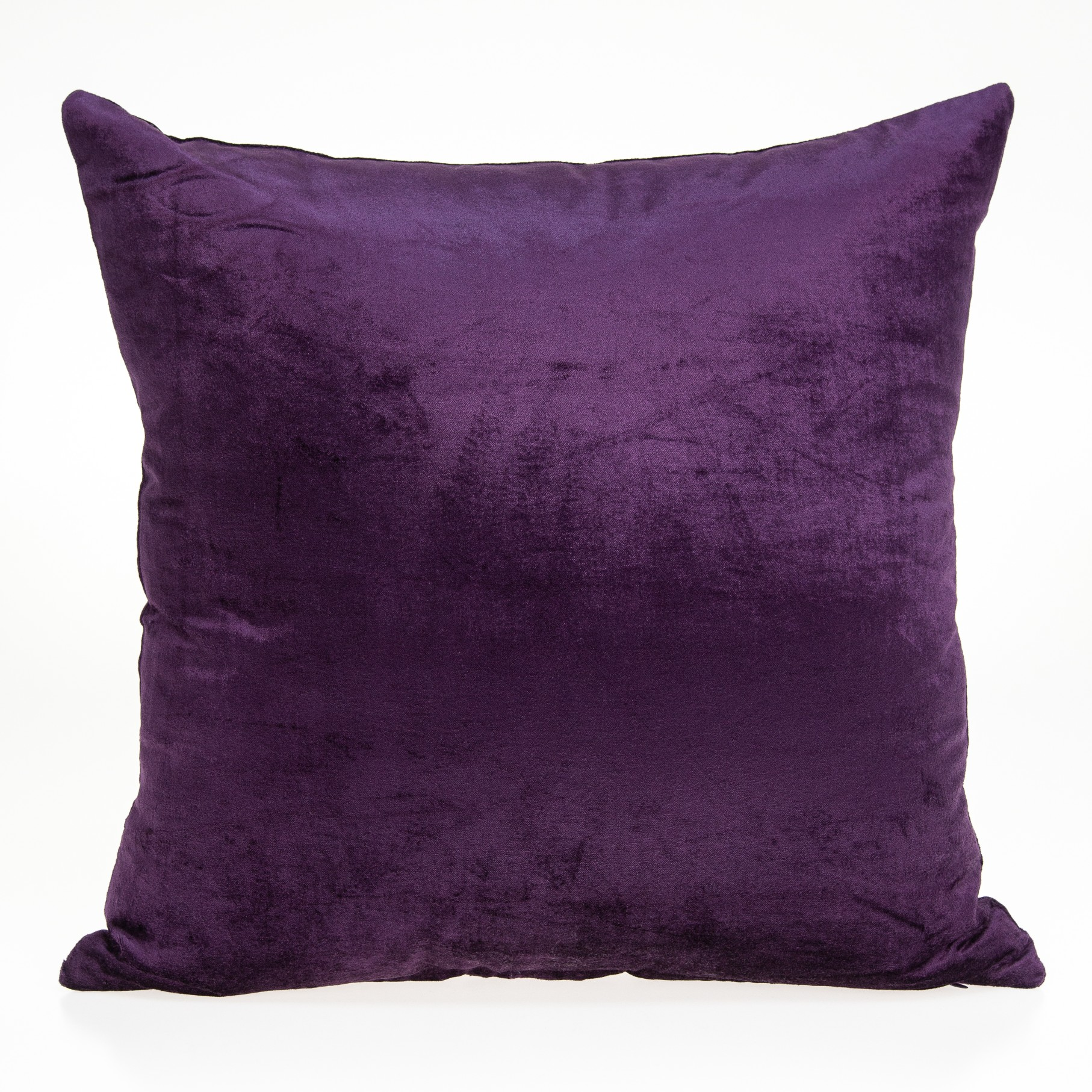"22"" X 0.5"" X 22"" Transitional Purple Solid Pillow Cover"