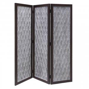 Versatile Dark Wood 3 Panel Room Divider Screen