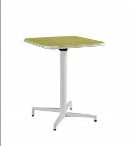 "24"" X 24"" X 30"" Yellow White Metal Folding Table"