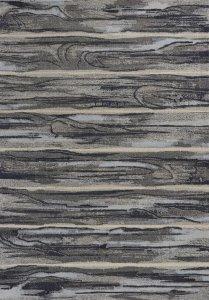 10'x13' Grey Machine Woven Abstract Brushstroke Indoor Area Rug