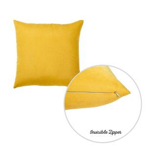"20""x20"" Yellow Honey Decorative Throw Pillow Cover (2 pcs in set)"