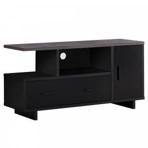 """15.5"""" x 47.25"""" x 23.75"""" BlackGrey Top With Storage  Tv Stand"""