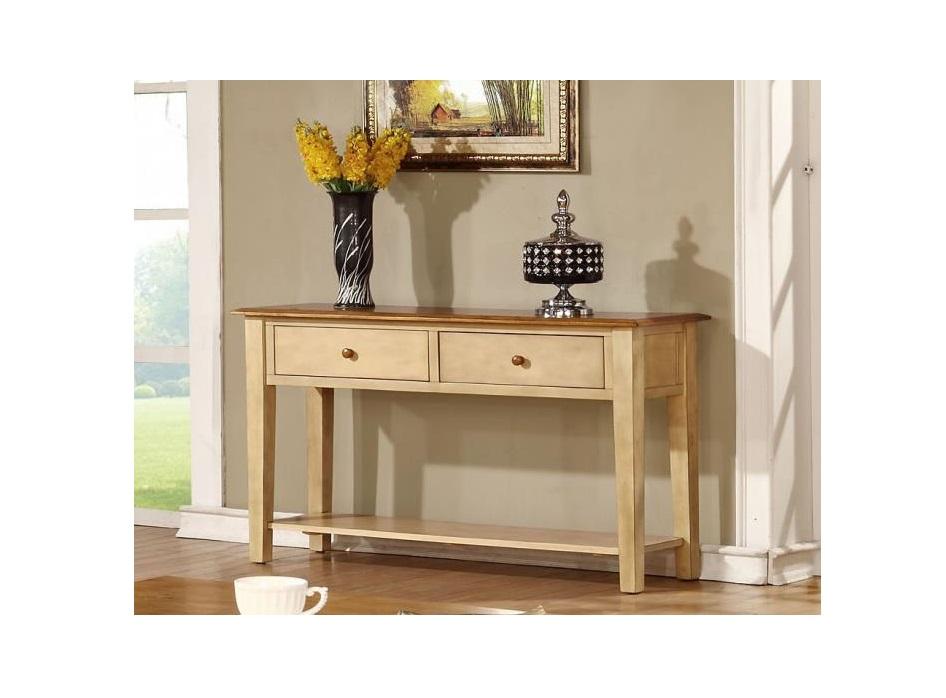 """16"""" X 50"""" X 30"""" Two Tone Hardwood Sofa Table"""